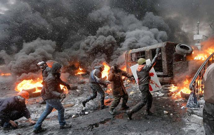 ***Winter Is On Fire* (2015)** <br><br> **Country/Language:** Ukraine/Ukranian <br><br> **Where to watch:** Netflix <br><br> Following the civil rights movement that erupted in the Ukraine after a military response to student protests, this documentary is filled with the raw footage that documents the escalation of violence unleashed on peaceful protesters, ultimately sparking a revolution. Nominated for an Oscar, it's a hugely important watch during these times.