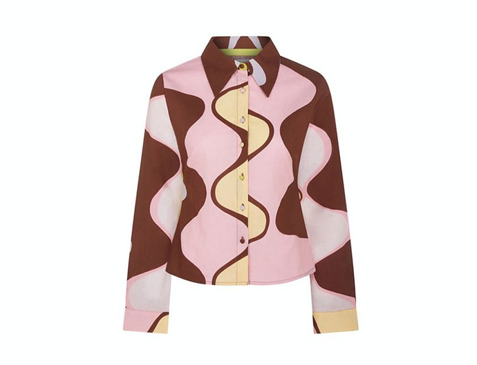 "Marina Shirt, $125 AUD approx. at [**House of Sunny**](https://www.houseofsunny.co.uk/product-page/marina-shirt-1|target=""_blank""