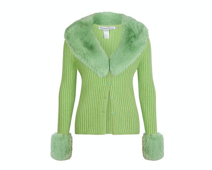 "Peggy Cardi, $146 AUD approx. at [**House of Sunny**](https://www.houseofsunny.co.uk/product-page/peggy-cardi-1|target=""_blank""
