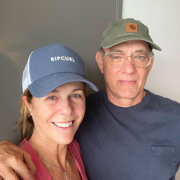 "**Tom Hanks and Rita Wilson** <br><br> While filming a film in Australia back in March, Tom Hanks shared the news [on Instagram](https://www.instagram.com/p/B9qBEyjJu4B/?utm_source=ig_embed|target=""_blank""