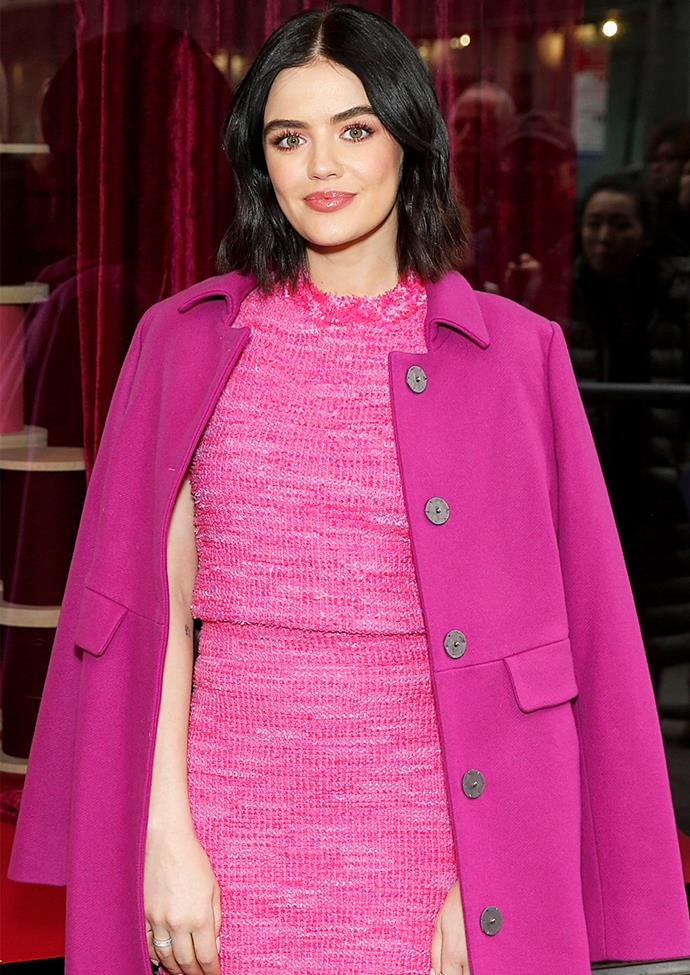"""**Lucy Hale** <br><br> In a recent interview with *[Glamour](https://www.glamourmagazine.co.uk/article/lucy-hale-interview-2020
