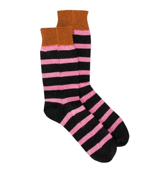 "Glitter Effect Striped Socks, $82 by La Double J at [Farfetch](https://www.farfetch.com/au/shopping/women/la-doublej-glitter-effect-striped-socks-item-14626667.aspx|target=""_blank""