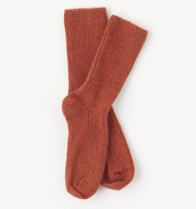 "Merino/Alpacca Winter Socks in Terracotta, $34.95 by [McIntyre Merino](https://www.mcintyremerino.com/products/merino-alpacca-winter-sock-6-10?variant=31762992660614&currency=AUD&utm_medium=product_sync&utm_source=google&utm_content=sag_organic&utm_campaign=sag_organic&gclid=CjwKCAjwsan5BRAOEiwALzomXw74tbV53RkTDxdjHN0BYQIbQL7vpm-8H4JWRSWsLdGDO_yIuRvQ6xoCyOwQAvD_BwE|target=""_blank""