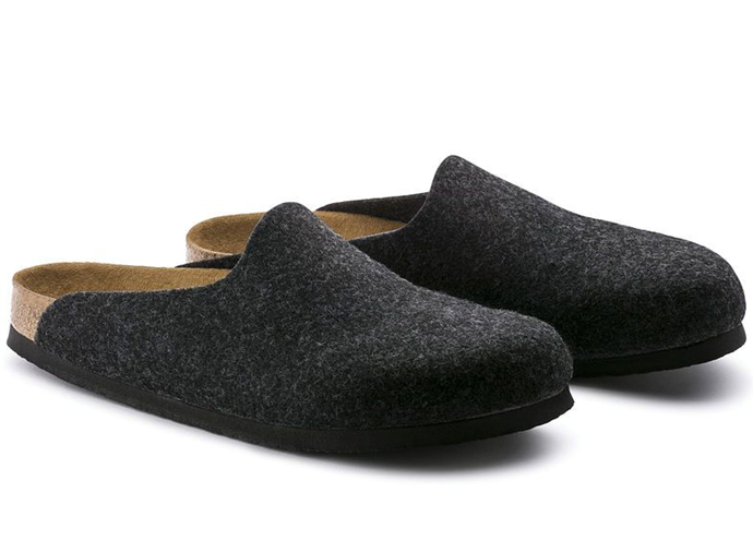 "Amsterdam Felt Sandal, $124 by [Birkenstock](https://birkenstockhahndorf.com.au/collections/house-shoes-1/products/birkenstock-amsterdam-regular-fit-felt?variant=9717548099|target=""_blank""