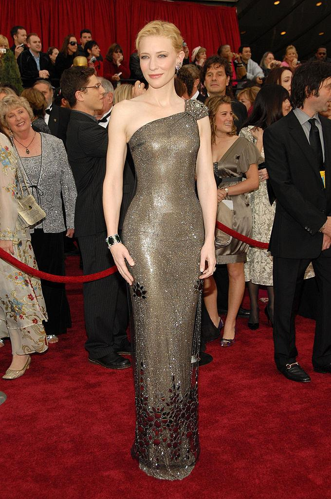 **Cate Blanchett in Armani Privé at the 2007 Academy Awards**<br><br>  Can you believe we were blessed with a look of this calibre in 2007? Falling like liquid silver, Cate Blanchett's armor-esque Armani Privé is still one of the decade's best.