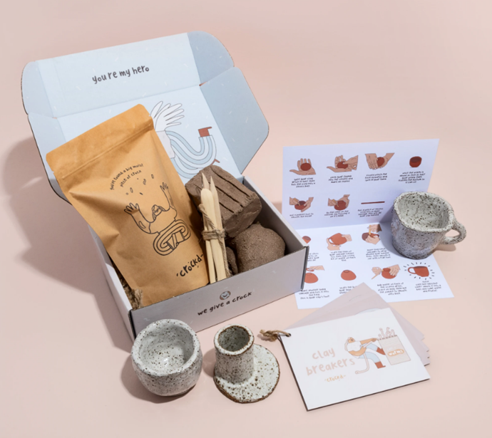 """The O.G. Clay Kit (1-2 people), $80 by [Crockd](https://www.crockd.com/collections/crockd-kits/products/twosome-crockd-for-2-peeps?variant=34097146331180