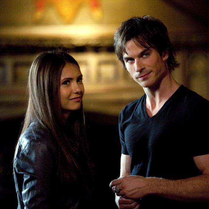 **Damon Salvatore and Elena Gilbert from *The Vampire Diaries*** <br><br> His romance with Elena Gilbert may have followed the same old bad-boy-turned-hopeless-romantic-because-of-one-girl arc, but  there was a lot more to this coupling that was just plain *wrong*.  <br><br> We were first introduced to Damon when he was, well, an asshole. But, as many people forget, he also used his vampire powers of hypnosis to essentially sexually assault (and literally drink the blood of) Elena's friends, putting a dark (and criminal) spin on this *romance*. His acts seemingly went unacknowledged for the rest of the show, he even ended up befriending his victims...not a great message.  <br><br> We wholeheartedly disapprove.