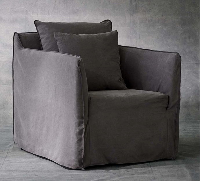 """Joe Armchair in Smoke, $1,050 by [MCM House](https://www.mcmhouse.com/collections/armchairs/products/joe-armchair