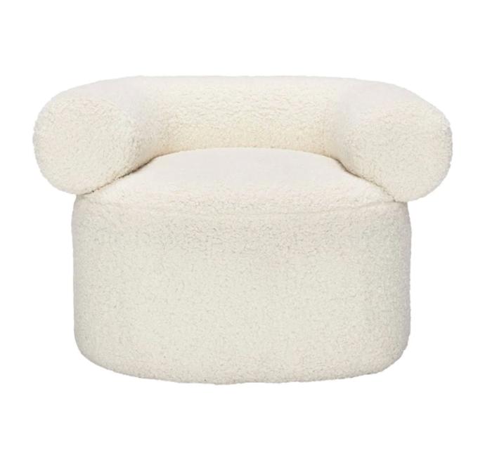 "Huggy Faux Fur Chair, $1,595 by Sarah Ellison at [Life Interiors](https://www.lifeinteriors.com.au/sarah-ellison-huggy-faux-fur-chair-off-white|target=""_blank""|rel=""nofollow"")."