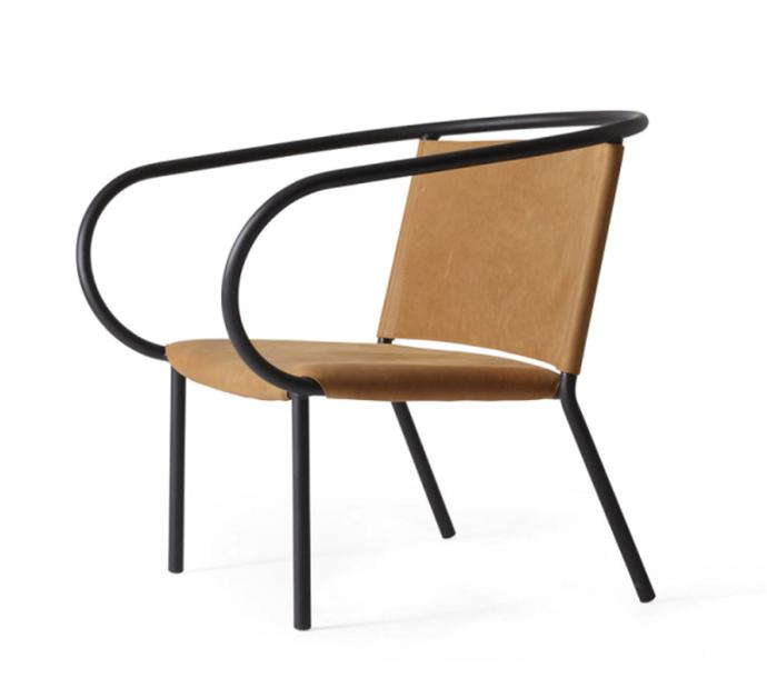 "Afteroom Lounge Chair, $2,695 by MENU at [Design Stuff](https://www.designstuff.com.au/pre-order-menu-afteroom-lounge-chair-cognac/|target=""_blank""|rel=""nofollow"")."