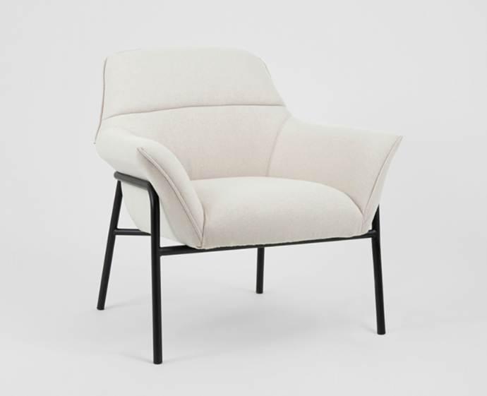 """Winston Armchair, $999 by Middle Of Nowhere at [RJ Living](https://www.rjliving.com.au/buy-winston-armchair-light-beige-black.html