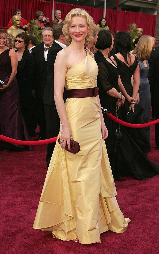 **Cate Blanchett in Valentino at the 2005 Academy Awards**<br><br>  A vision in a yellow Valentino, this might be one of Blanchett's most memorable looks—and excellent evidence that the 2000s had some stellar style moments.