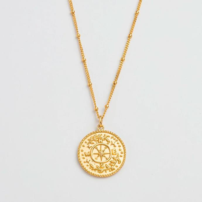"""'Treasure Coin Necklace' by Kirtsen Ash, $157 at [THE ICONIC](https://www.theiconic.com.au/treasure-coin-necklace-939118.html