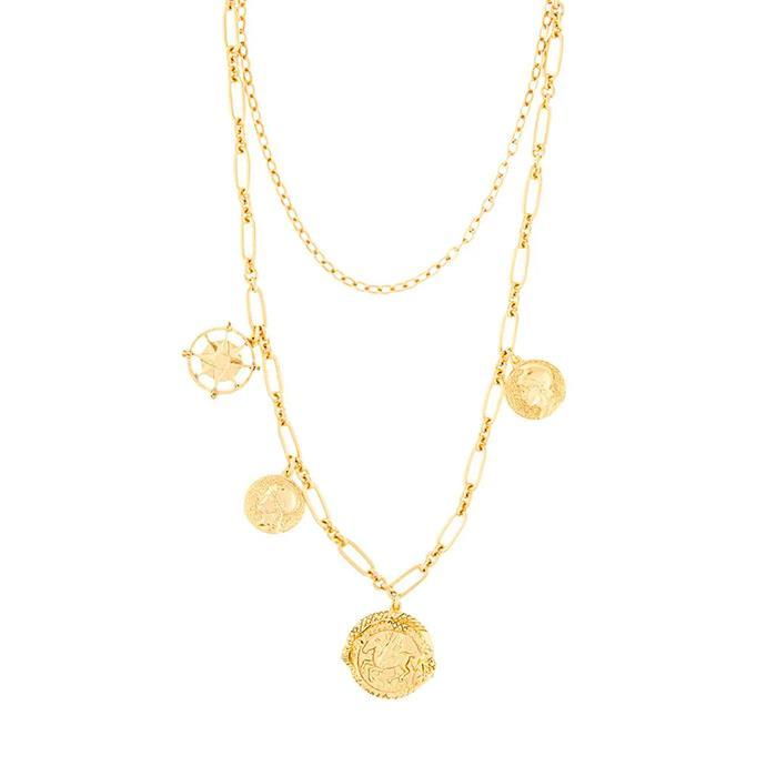 "'Pangea Short Necklace' by Jennifer Behr, $643 at [FARFETCH](https://www.farfetch.com/au/shopping/women/jennifer-behr-pangea-short-necklace-item-15287497.aspx?storeid=13018|target=""_blank""|rel=""nofollow"")."