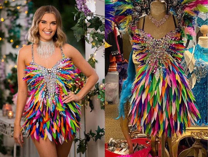 """Nicole wears a dress hired from [House of Priscilla](https://houseofpriscilla.com.au/ target=""""_blank"""" rel=""""nofollow"""") in Sydney, in episode one of *The Bachelor* Australia."""