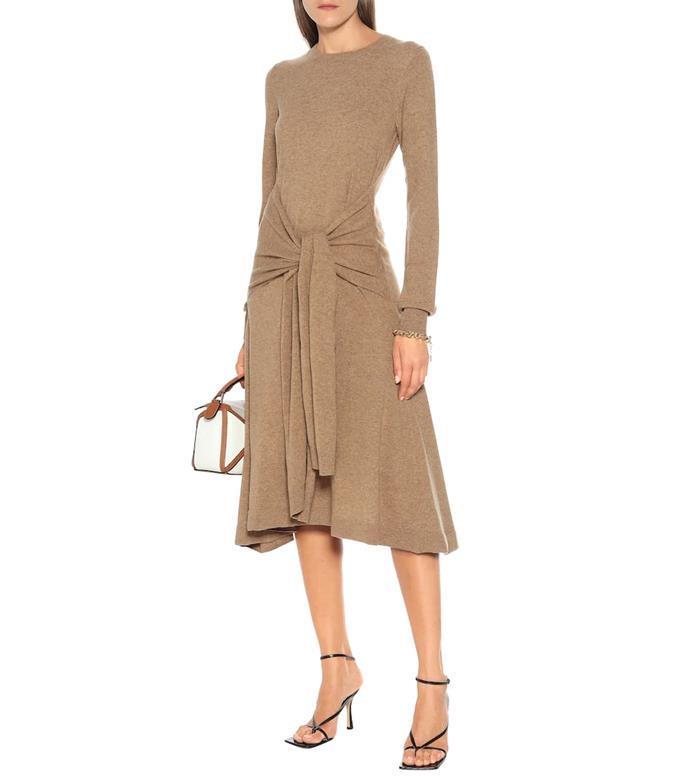 "Merino wool midi dress by JW Anderson, $1,100 at [Mytheresa](https://fave.co/30OylJ4|target=""_blank""|rel=""nofollow"")."