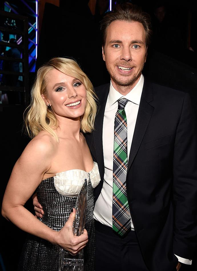 """**Kristen Bell and Dax Shepard** <br><br> We love the kind of honesty where people own their flaws and want to grow from them. Dax and Kristen are known for being very open about the struggles that they've encountered both at the beginning of their relationship and throughout their marriage.  <br><br> But it's Kristen's candour regarding her 'toxic' addiction to drama that makes us relate to her. In a conversation with Harry Connick Jr., she admitted that an issue she's had to work through was her love of a dramatic storm off during fights. """"We'd get in a fight, because we would fight a lot, and I'd, like, yell something then slam the bedroom door, then I'd slam the front door, then I'd get in my car and then I'd skid out the driveway and I would sit around the corner in my car and it felt so good,"""" she explained.  <br><br> Her future husband would pull her up on the bad habit though, """"Three months into our relationship he was like, 'You can't leave anymore during fights. I'm not going to do that,'"""" she revealed."""