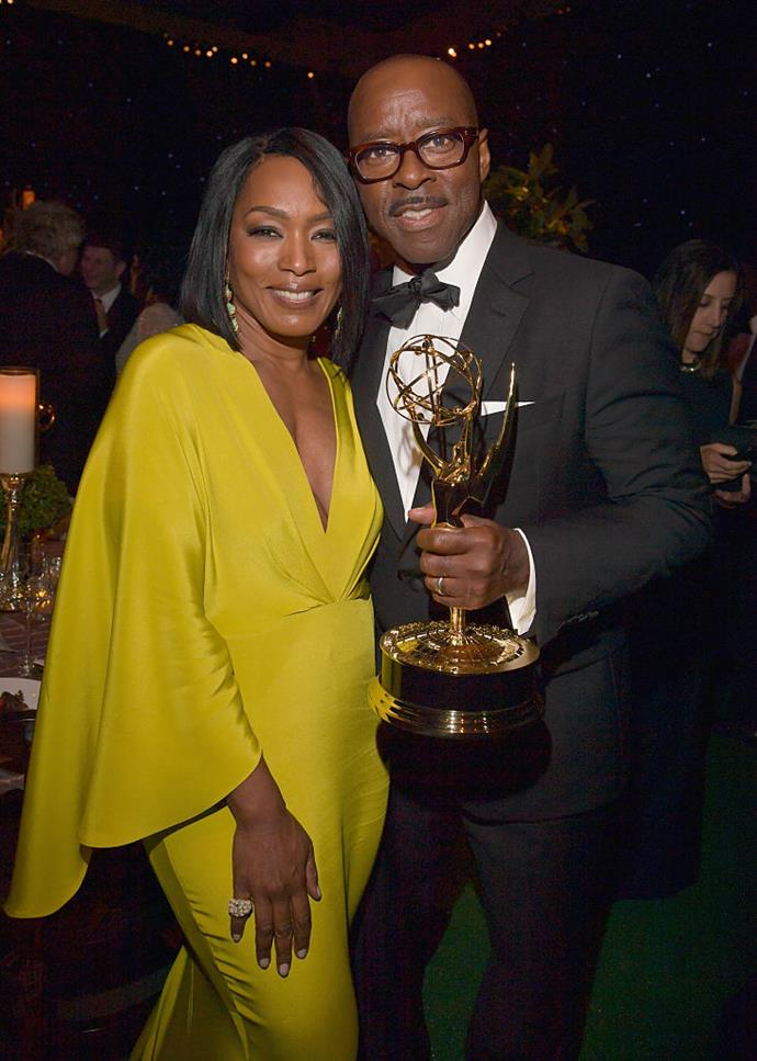 """**Angela Bassett and Courtney B. Vance** <br><br> Revealing that they didn't quite hit it off at first, the couple must have seen something in each other as they've now been married for over two decades.Their secret? Having fulfilling lives outside of their relationship, but also being able to compromise. """"I want what I want, he wants what he wants and sometimes they're not the same, but we've learned how to negotiate to make each other happy and fulfil our dreams and desires,"""" she said in an interview.  <br><br> So while they may not always have the same goals or ideas, Bassett explains that Vance supports her and makes her a """"better person""""."""