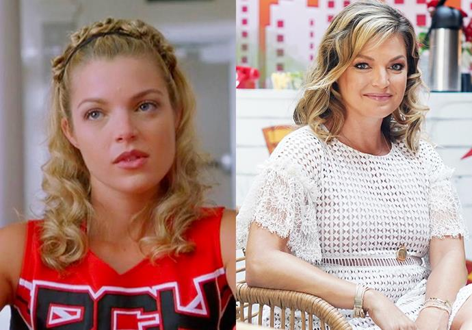 """**Clare Kramer (Courtney)** <br><br> Playing the feisty, outspoken Courtney, Clare Kramer famously made the term """"cheertator"""" a part of every *Bring It On* fans vocabulary for years after the film's success. <br><br> Kramer is now a mother-of-four, the founder of entertainment portal GeekNation and the *Take Five with Clare Kramer* podcast."""