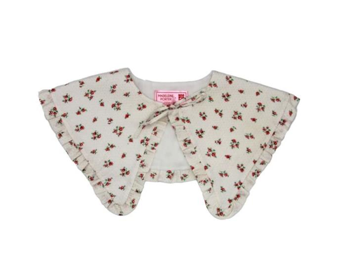 "The Baby Collar, $132 AUD Approx. by [Neophyte](https://shopneophyte.com/collections/collabs/products/the-baby-bib-fleurs|target=""_blank""