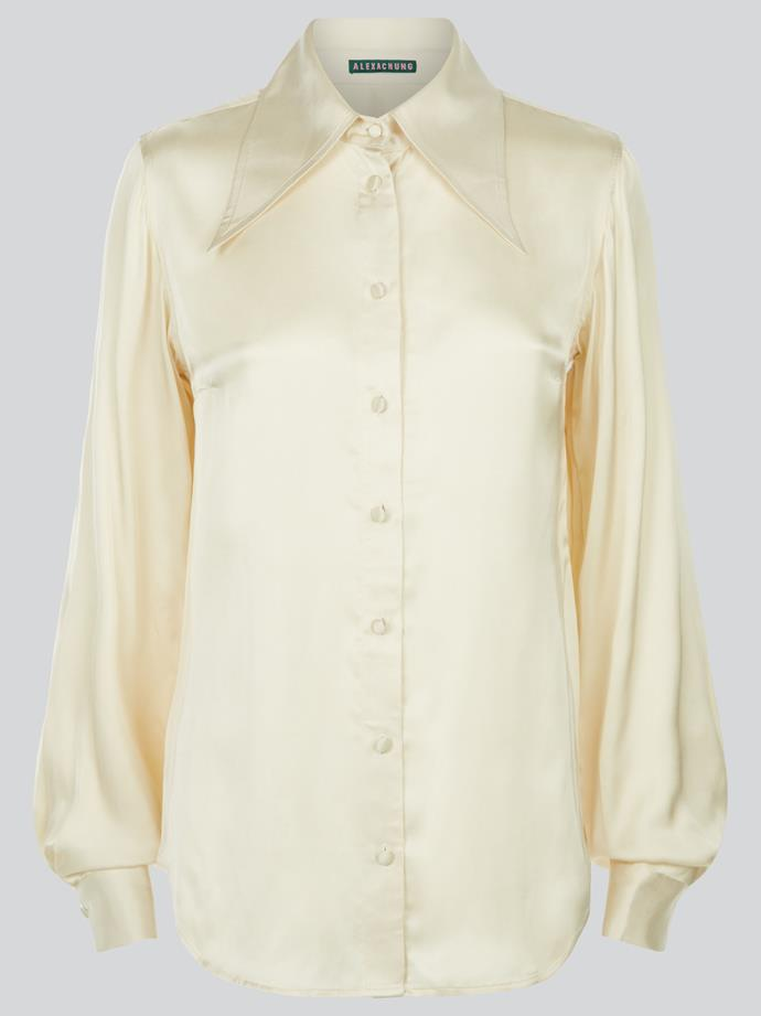 "The Perfect Blouse, $157 AUD Approx. by [Alexa Chung](https://www.alexachung.com/row/catalog/product/view/id/14807/s/d20fluid-shirtc3000/category/31/|target=""_blank""
