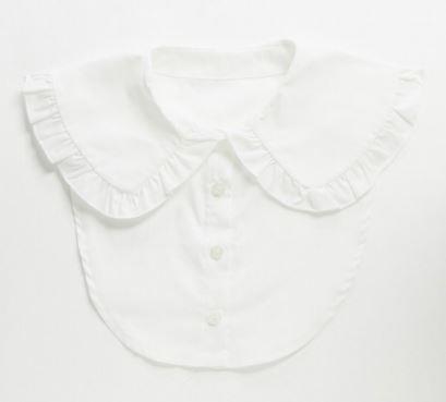 "Cotton Frill Collar, $24 by [ASOS](https://www.asos.com/au/asos-design/asos-design-cotton-frill-collar-in-white/prd/20936528?channelref=product+search&affid=24792&mk=abc&ppcadref=9995283117%7C99537615823%7Caud-374014647491:pla-328920477747&gclid=Cj0KCQjw7ZL6BRCmARIsAH6XFDLY9Yc9H7J2jTYCG3-3jPSo2xCSq8oVmzjZahj4i7GmkQXbIHSthsAaAq4UEALw_wcB&gclsrc=aw.ds|target=""_blank""|rel=""nofollow"")."