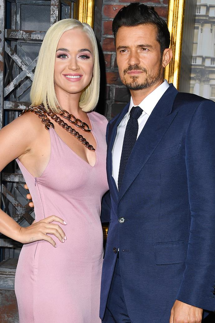 **Katy Perry and Orlando Bloom** <br><br> Perry and her fiancé Bloom welcomed their first child together on August 26, a daughter named **Daisy Dove Bloom**. And while the name Daisy is not particularly odd, the combination of the flower-themed first and last name could be what makes the name sound interesting.