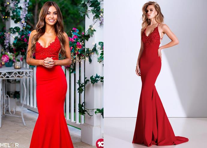 """Kristina wears the 'Pascale' dress, $999 by [Gemeli Power](https://www.gemelipower.com/collections/gemeli-power-decoree/products/pascale