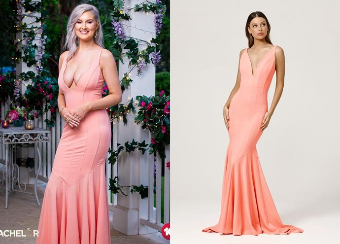 """Rosemary wears the 'Dylan' dress, $246 by [Lexi](https://lexiclothing.com.au/collections/all/products/dylan-dress-pink