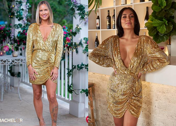 """Roxi wears the 'Stacey' dress by Retrofete, $548 at [Frwd](http://www.fwrd.com/product-retrofete-for-fwrd-stacey-dress-in-gold/RTFF-WD99