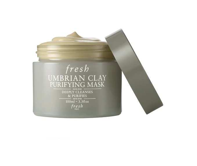 """Umbrian Clay Purifying Mask, $83 by Fresh at [Sephora](https://www.sephora.com.au/products/fresh-umbrian-clay-mask-in-a-jar-100ml/v/default