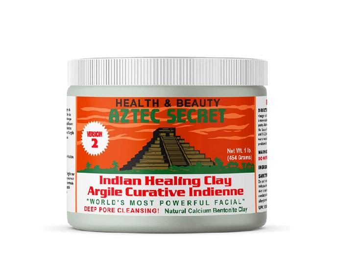 "Indian Healing Clay, $27.90 by Aztec Secret at [Amazon](https://www.amazon.com.au/Aztec-Secret-Indian-Healing-Cleansing/dp/B005GTU0P0/ref=pd_lpo_194_t_0/356-0662104-7697725?_encoding=UTF8&pd_rd_i=B005GTU0P0&pd_rd_r=8be2a636-669d-4ff6-b419-0aee94585968&pd_rd_w=5KFVr&pd_rd_wg=0RYoI&pf_rd_p=ad2d1e6e-bc60-4795-b4c0-2dbd35f6678d&pf_rd_r=Y9YN3BAYQX2PP7GANCPJ&psc=1&refRID=Y9YN3BAYQX2PP7GANCPJ|target=""_blank""|rel=""nofollow"")."
