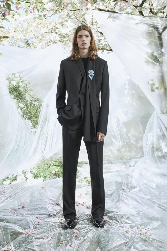"""**BEST GROOM COLLECTION**<br><br> """"The ultimate men's slim cut suit with touches of personality added.""""<br><br> Dior Homme Resort 2020."""