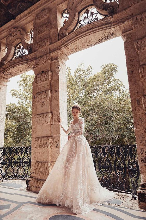 """**BEST AD CAMPAIGN**<br><br> """"Whimsical as always. These gowns are a beautiful soft pastel, intricately created and completely unique.""""<br><br> Monique Lhuillier autumn 2020."""