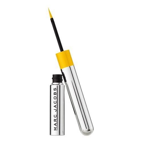"Highliner Liquid-Gel Eyeliner in Gold Getter by Marc Jacobs Beauty, $42 at [Sephora](https://www.sephora.com.au/products/marc-jacobs-beauty-highliner-liquid-gel-eyeliner/v/gold-getter?dxid=Cj0KCQjwv7L6BRDxARIsAGj-34rgaIR7jyhpr-fRm3BgVHUPlXfrFYbZrwTvvzkLC34Adqttu18pK8waAqKAEALw_wcB&dxgaid=Cj0KCQjwv7L6BRDxARIsAGj-34rgaIR7jyhpr-fRm3BgVHUPlXfrFYbZrwTvvzkLC34Adqttu18pK8waAqKAEALw_wcB&gclid=Cj0KCQjwv7L6BRDxARIsAGj-34rgaIR7jyhpr-fRm3BgVHUPlXfrFYbZrwTvvzkLC34Adqttu18pK8waAqKAEALw_wcB target=""_blank"" rel=""nofollow"")."