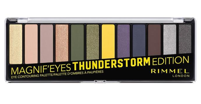 "Mangnif'eyes Thunderstorm Palette by Rimmel London, $23.95 at [Priceline](https://www.priceline.com.au/cosmetics/eyes/eyeshadow/rimmel-london-magnif-eyes-thunderstorm-edition-eyeshadow-palette-14-g|target=""_blank""