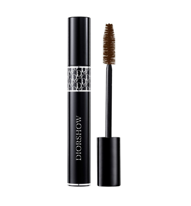 "Diorshow Lash Extension Effect Volume Mascara in Brown by Dior, $56 at [Myer](https://www.myer.com.au/p/dior-beaute-dior-diorshow-mascara-090-black?colour=698%20Brown|target=""_blank""