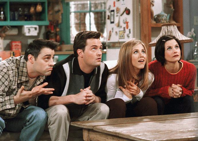 "***Friends:*** **Seasons 1 to 10 (17/9/2020)**<br><br>  The Central Perk crew are heading to Netflix! You'll be able to catch all 10 seasons of Rachel, Monica, Ross, Chandler, Joey and Phoebe and binge your nights away. And if you needed another reason? A study revealed watching re-runs of [*Friends* helps ease anxiety](https://www.elle.com.au/culture/watching-friends-eases-anxiety-study-20632|target=""_blank"")!"