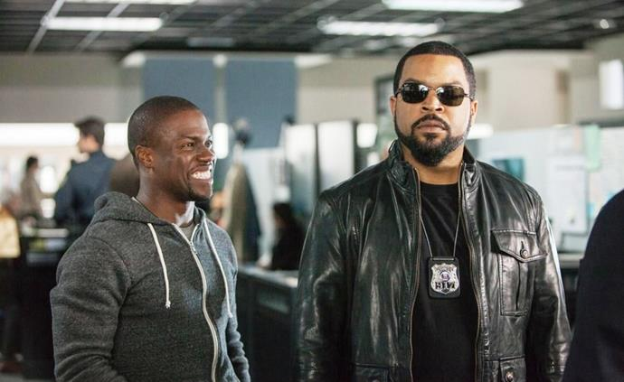 ***Ride Along*** **(4/9/2020)**<br><br>  For two years, security guard Ben (Kevin Hart) has tried to convince James (Ice Cube), a veteran cop, that he is worthy of James' sister, Angela. When Ben is finally accepted into the police academy, James decides to test his mettle by inviting him along on a shift deliberately designed to scare the trainee. However, events take an unexpected turn when their wild night leads to Atlanta's most-notorious criminal and Ben's rapid-fire mouth proves as dangerous as the bullets whizzing by them.