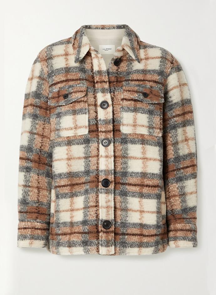 "'Gastoni' Checked Wool-Blend Jacket by Isabel Marant Étoile, $730 at [NET-A-PORTER](https://www.net-a-porter.com/en-au/shop/product/isabel-marant-etoile/gastoni-checked-wool-blend-jacket/1256152|target=""_blank""|rel=""nofollow"")."