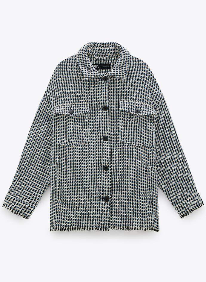 "Jacket With Front Pockets, $99 at [ZARA](https://www.zara.com/au/en/jacket-with-front-pockets-p07558045.html?v1=51064181&v2=1277365|target=""_blank""