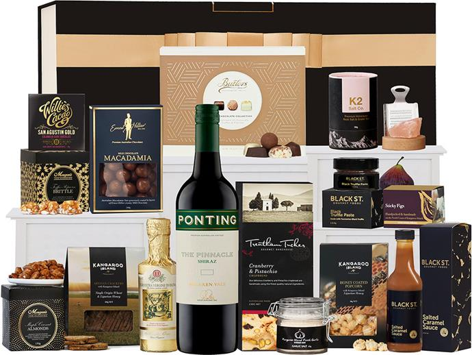 "**For The Foodie Father**<br><br>  *Premium Foodies Hamper by Ponting Wine, $199 at [The Hamper Emporium](https://fave.co/32Gx8mV|target=""_blank""