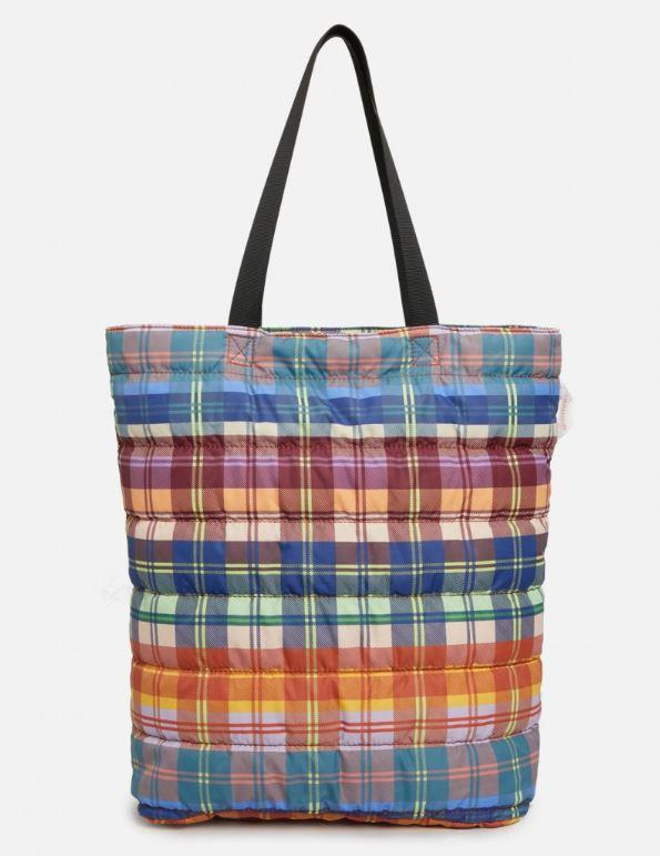 "Tartan trip Tote, $34.50 by [Gorman](https://www.gormanshop.com.au/shop/accessories/bags-and-purses/tartan-trip-tote.html|target=""_blank""