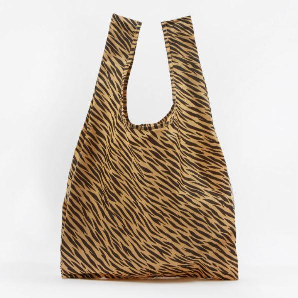 "Reusable Shopping Bag in Tiger by Baggu, $17.95 at [David Jones](https://www.davidjones.com/brand/baggu/23231407/standard-baggu.html|target=""_blank""