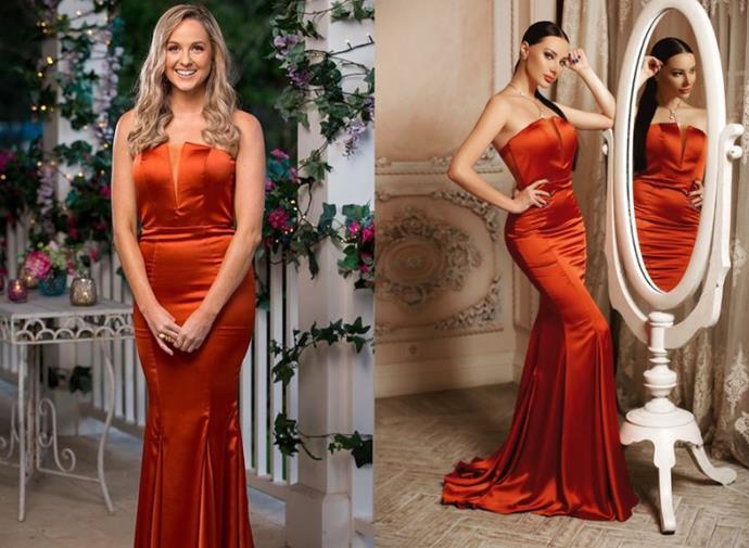 "Izzy wears the 'JP115' gown, POA by [J'Adore](http://www.jadore.com.au/productinfo/405450.html|target=""_blank""|rel=""nofollow"")."