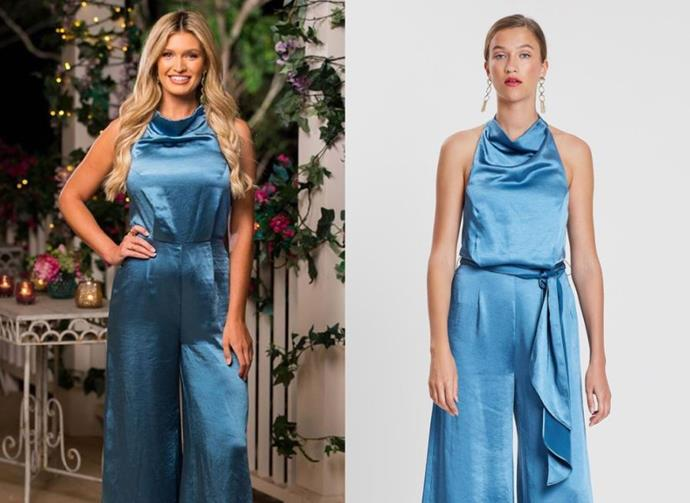 "Gemma wears the 'Cherish' jumpsuit, no longer available, by [Elliatt](https://www.elliattcollective.com.au/collections/all-products|target=""_blank""