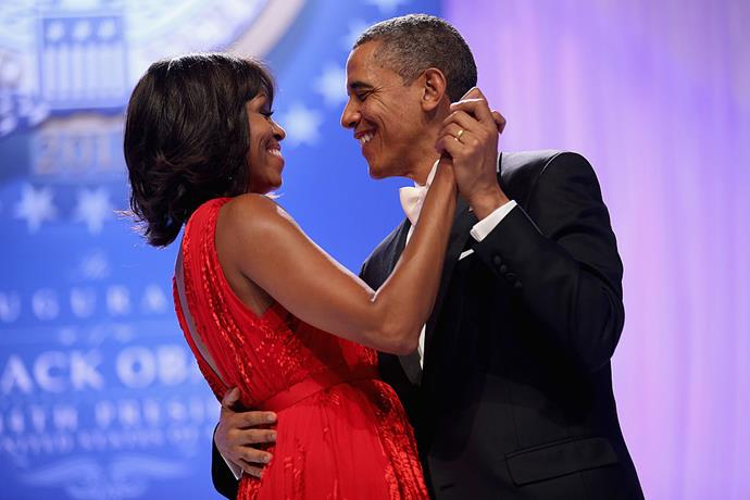Michelle and Barack Obama at the 2013 Inaugural Ball.