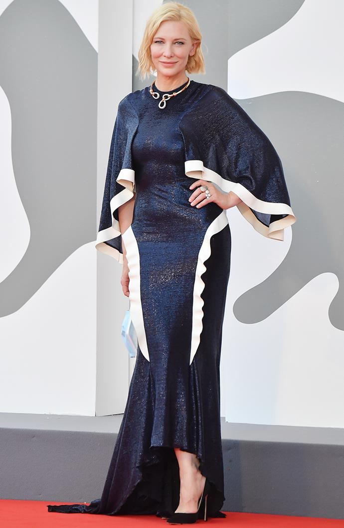 Cate Blanchett in Esteban Cortazar that she first wore to the London Film Festival in 2015.