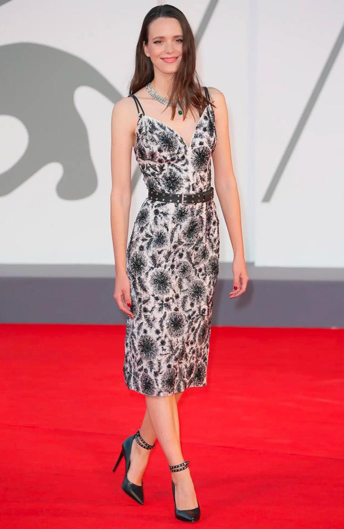 Stacy Martin in Louis Vuitton.