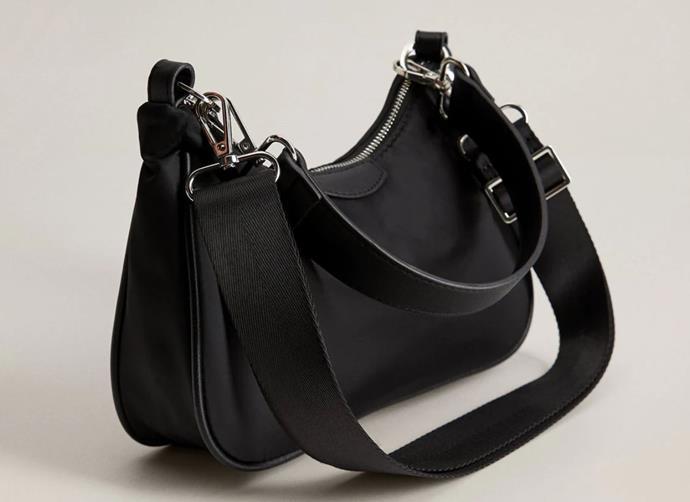 "Double Handle Baguette Bag, $44.95 by [Mango](https://shop.mango.com/au/women/bags-baguettes/double-handle-baguette-bag_67004455.html|target=""_blank""|rel=""nofollow"")."